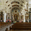 Das Licht wurde von den barocken Baumeistern zur Raumgestaltung genutzt. Das Bild zeigt das Innere der Klosterkirche Engelberg.
