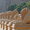 Die Widderallee zur Tempelanlage Karnak/Luxor