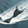Aufgetauchtes U-Boot auf Marschfahrt