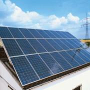 Solarzellen zur Umwandlung von Lichtenergie in elektrische Energie