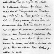 Gesuch Röntgens für Urlaub zum Empfang des ersten Nobelpreises für Physik (1901)