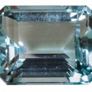 Aquamarin (geschliffen) ist ein Berylliumsilicat.