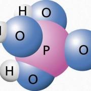 Kugelmodell der Phosphorsäure