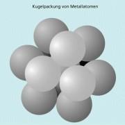 Um ein Metallatom passen maximal 12 gleiche Metallatome.