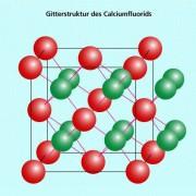 Gitterstruktur des Calciumfluorid-Kristalls (3D)