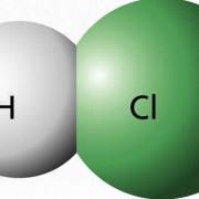 Chlorwasserstoffmolekül