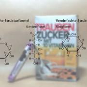 Strukturdarstellungen der Ring- und Kettenform der Glucose
