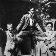 Hans Arp mit Hans Richter und Tristan Tzara