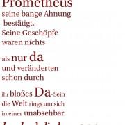 Zitat aus FRANZ FÜHMANNs Prometheus