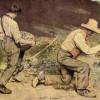 GUSTAVE COURBETS Gemälde 'Die Steinklopfer' (1849)