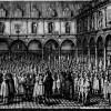 Die Londoner Börse im 17. Jahrhundert (Kupferstichvon Wenzel Hollar)