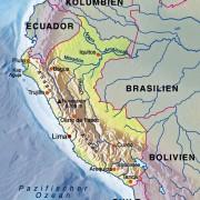 Lage Perus in Südamerika