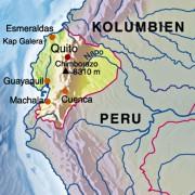 Die Lage Ecuadors in Südamerika