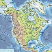 Nordamerika - Physische Übersichtskarte