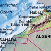 Das nordwestafrikanische Königreich Marokko