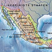 Lage von Mexiko-Stadt im Mexikanischen Hochland