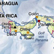 Lage Panamas auf der Festlandsbrücke