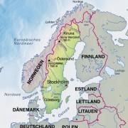 Schweden und Nachbarländer (* zur RUSSISCHEN FÖDERATION)
