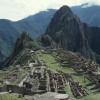 """Die Ruinenstadt Machu Picchu (Blick von Süden; Standort """"Hütte"""")"""