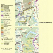 Abbauentwicklung und Bergbaufolgelandschaft im Tagebau Jänschwalde