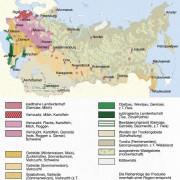 Agrarregionen im Bereich der früheren UdSSR