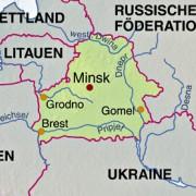 Lage Weißrusslands in Osteuropa