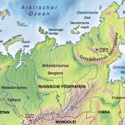 Lage Sibiriens in Asien