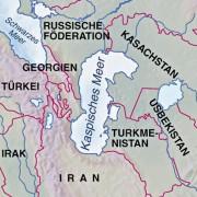 Lage des Kaspischen Meeres