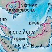 Singapurs Lage in Südostasien