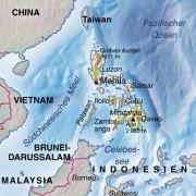 Die Lage der Philippinen in Südostasien
