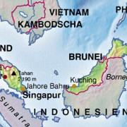 Die Lage Malaysias in Südostasien