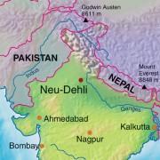 Lage Neu Delhis in Indien