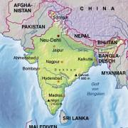 Die Lage Mumbais (Bombays) in Indien