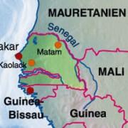 Die Lage des Senegal in Afrika