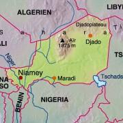 Lage Nigers in Afrika