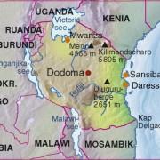 Lage Tansanias in Afrika