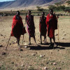 Masai-Hirten im Ngorongoro-Krater