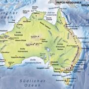 Oberflächenformen Australiens