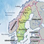 Die Skandinavische Halbinsel mit Schweden