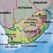 Lage der Republik Südafrika