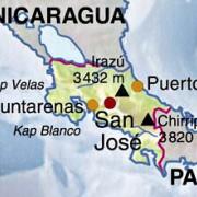 Lage Costa Ricas in Mittelamerika