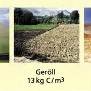 Kohlenstoffgehalt/m³ Boden in kg C/m³
