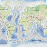 Lithosphäreplatten der Erde