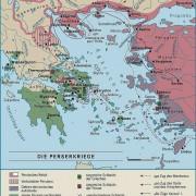 Griechenland zur Zeit der Perserkriege 490 und 480/479 v. Chr.