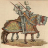 """Die Rolle der Ritter veränderte sich. Sie wurden nicht mehr für den Kriegsdienst benötigt, wodurch sie raubend durch die Lande zogen. Als """"Raubritter"""" versuchten sie, ihren sozialen Status zu erhalten."""