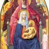 MASACCIO (1401–1429): Heilige Anna selbdritt, 1425, Holz, 175 × 103 cm, Florenz, Galleria degli Uffizi.