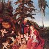 LUCAS CRANACH DER ÄLTERE (1472–1553): Ruhe auf der Flucht, 1504, Öl auf Holz, 70,7 x 53 cm, Berlin, Gemäldegalerie.