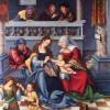 LUCAS CRANACH DER ÄLTERE (1472–1553): Torgauer Fürstenaltar, Mitteltafel: Die Hl. Sippe, 1509, Öl auf Holz,120 x 99 cm, Frankfurt am Main, Städelsches Kunstinstitut.