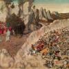 LUCAS CRANACH DER ÄLTERE (1472–1553): Untergang des Pharao im Roten Meer, 1530, Öl auf Holz, 82 x 117 cm, München, Alte Pinakothek.