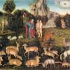 LUCAS CRANACH DER ÄLTERE (1472–1553): Paradies, 1536, Öl auf Holz, Wien, Kunsthistorisches Museum.